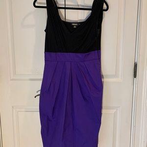 DKNY Jersey and Taffeta dress